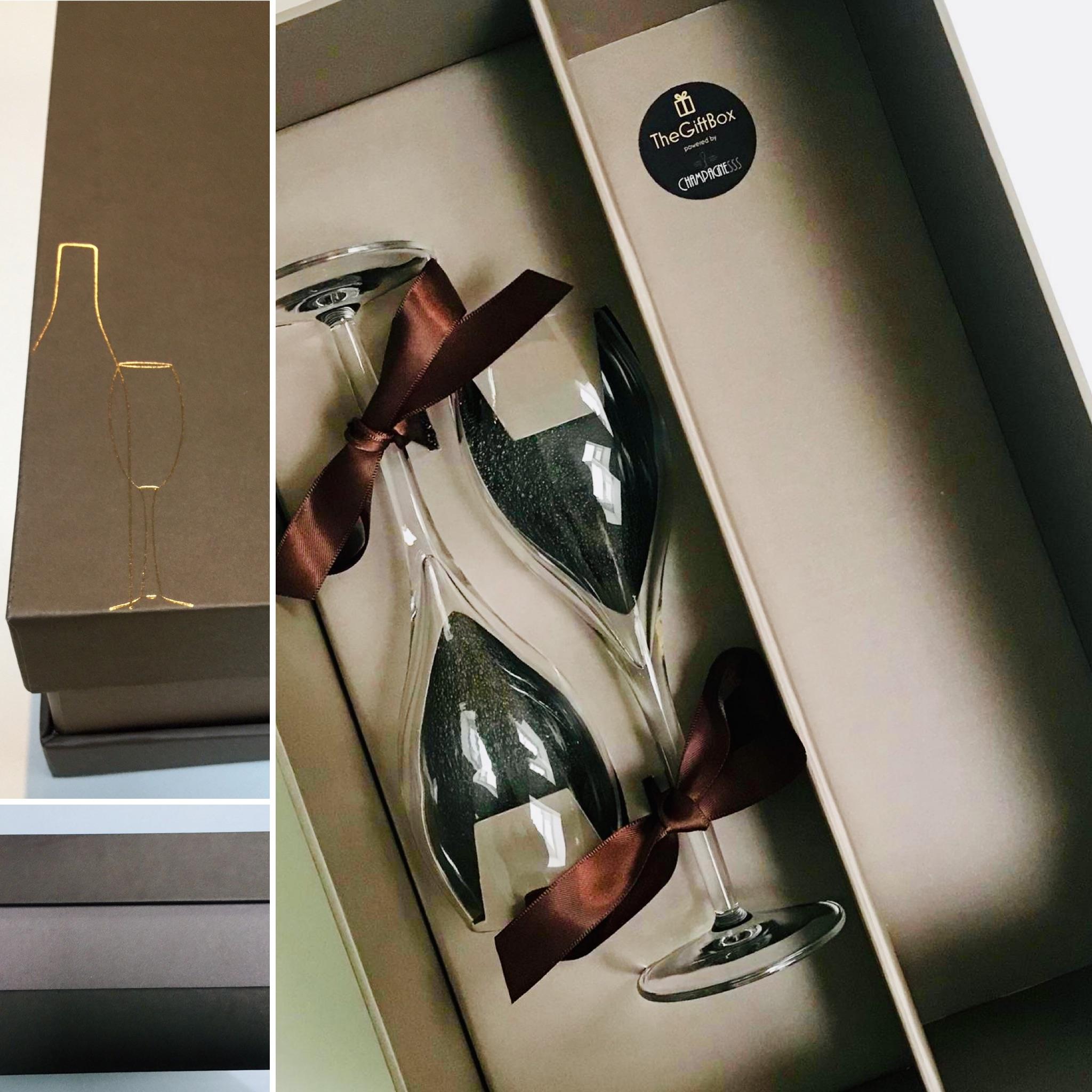 Afbeelding Luxe box voor 1 fles champagne + 2 glazen
