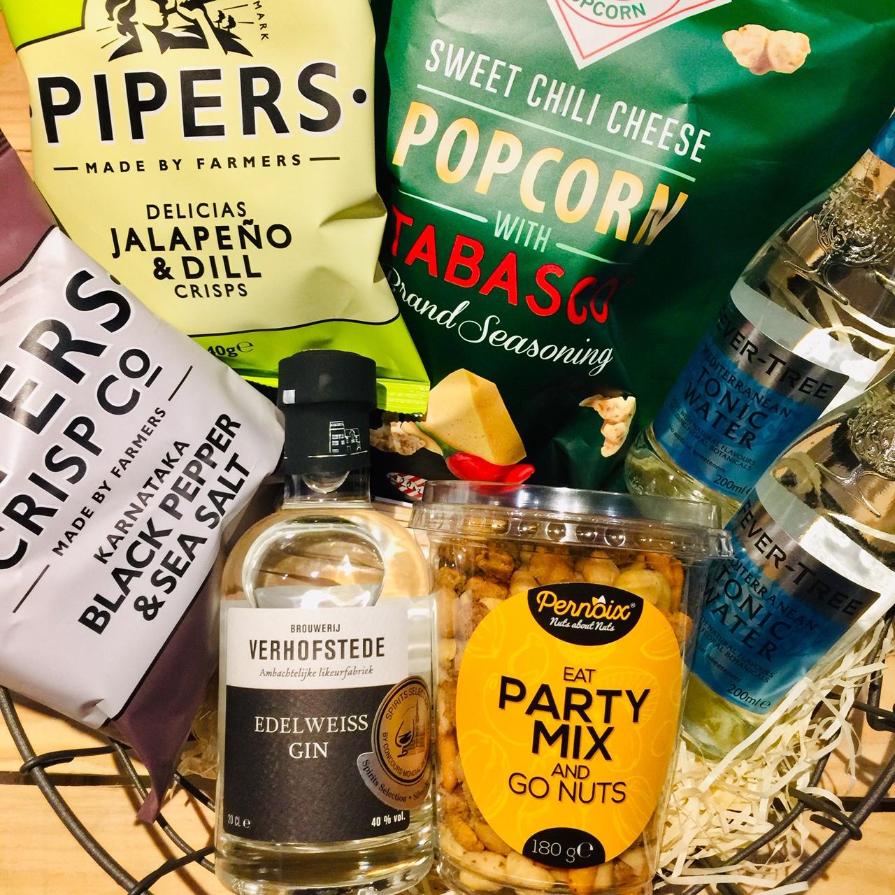 Afbeelding Aperopakket Edelweiss Gin & Pipers